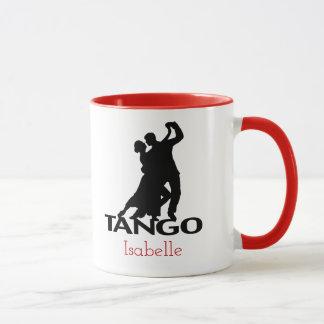 Tango Dancers Ballroom Silhouette Personalized Mug