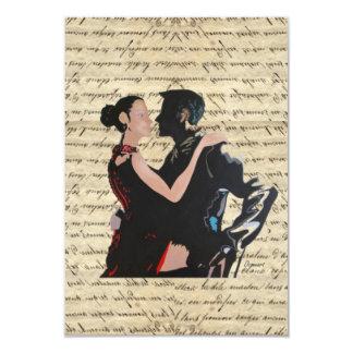Tango dancers card