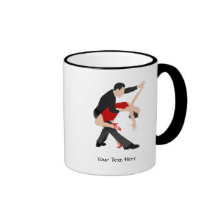 Tango Dancers (customized) Ringer Coffee Mug