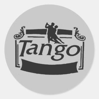 Tango dancers design round sticker