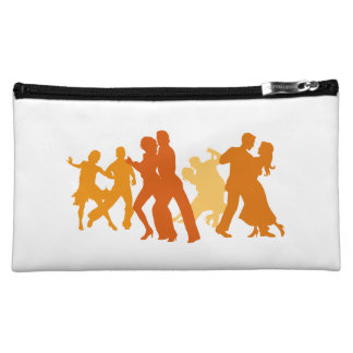 Tango Dancers Illustration Cosmetics Bags