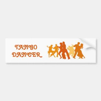 Tango Dancers Illustration Bumper Sticker