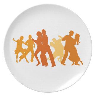 Tango Dancers Illustration Plate