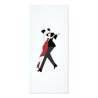tango dancers 4x9.25 paper invitation card