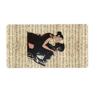 Tango dancers custom shipping labels