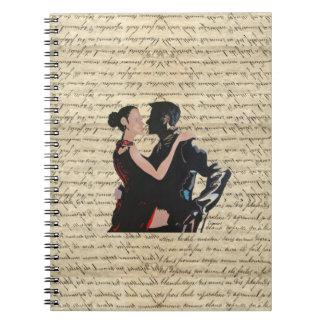 Tango dancers note books