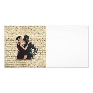 Tango dancers photo greeting card