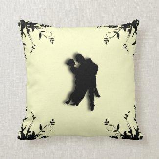 Tango Dancers Silhouette2 Mojo Pillow