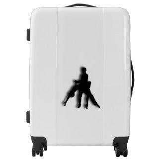 Tango Dancers Silhouette Luggage