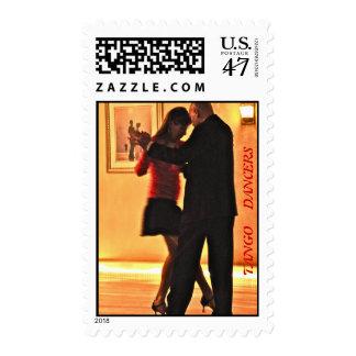 tango dancers stamps