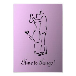 Tango Dancers with Customizable Slogan 5x7 Paper Invitation Card