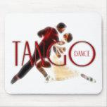 Tango Dances red Mousepads
