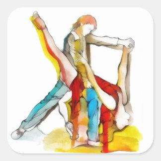 Tango Dancing Square Sticker
