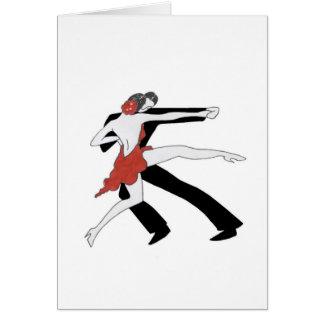 Tango/danza conmigo tarjeta de felicitación