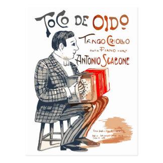 Tango de Bandoneon Tarjeta Postal