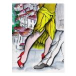 Tango de Blanco del pueblo Postales