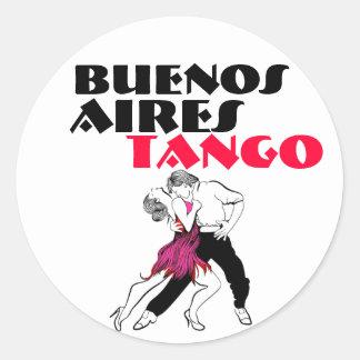Tango de Buenos Aires Pegatina Redonda