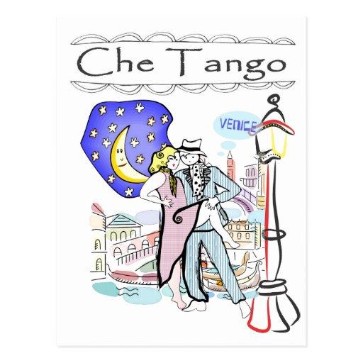 Tango de Che en Venecia Postal