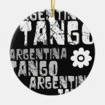 Tango de la Argentina Adorno Navideño Redondo De Cerámica