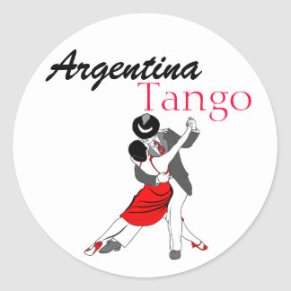Tango de la Argentina Pegatina Redonda