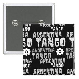 Tango de la Argentina Pin Cuadrado