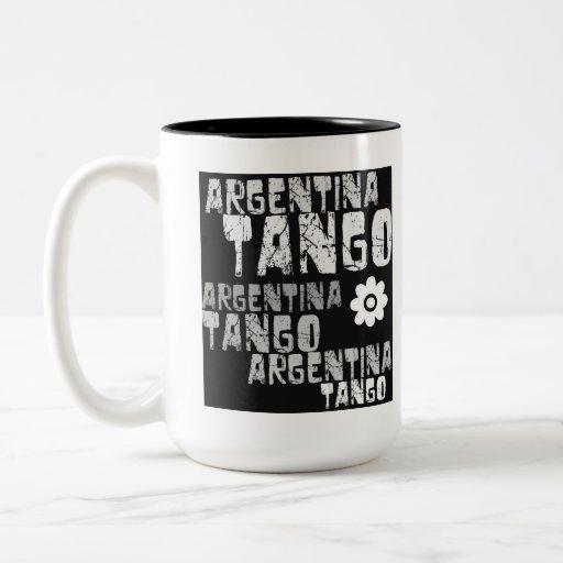 Tango de la Argentina Taza De Dos Tonos