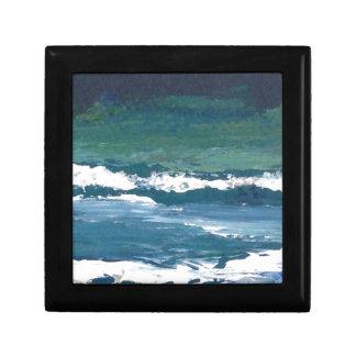 Tango de la decoración de la playa de las olas oce caja de recuerdo