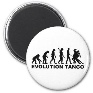 Tango de la evolución imán redondo 5 cm