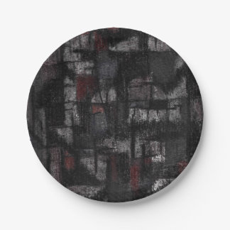 Tango de las placas en la lluvia platos de papel
