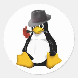 Tango de Linux Pegatinas Redondas