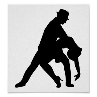 Tango de los pares del baile impresiones