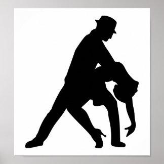Tango de los pares del baile póster