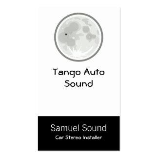 Tango de Luna de la luna Tarjetas De Visita