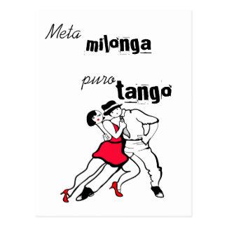 Tango de Milonga Puro de la meta Tarjetas Postales