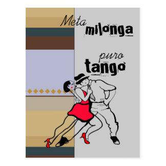 Tango de Milonga Puro de la meta Postal
