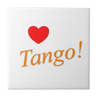¡Tango del amor! Azulejo Cuadrado Pequeño