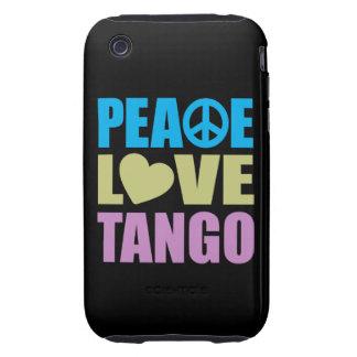 Tango del amor de la paz tough iPhone 3 coberturas