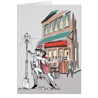 Tango del café tarjeta de felicitación