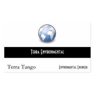 Tango del globo del mundo de la tierra tarjetas de visita