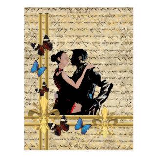Tango del vintage postales
