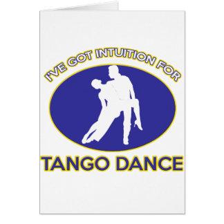 tango design greeting card