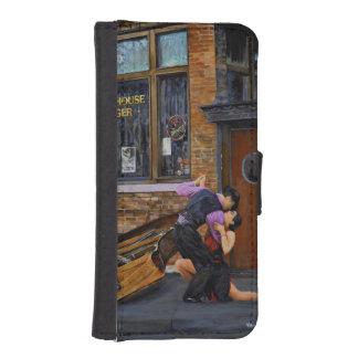 Tango en el caso del iPhone 5/5s de la pintura de Funda Billetera Para Teléfono