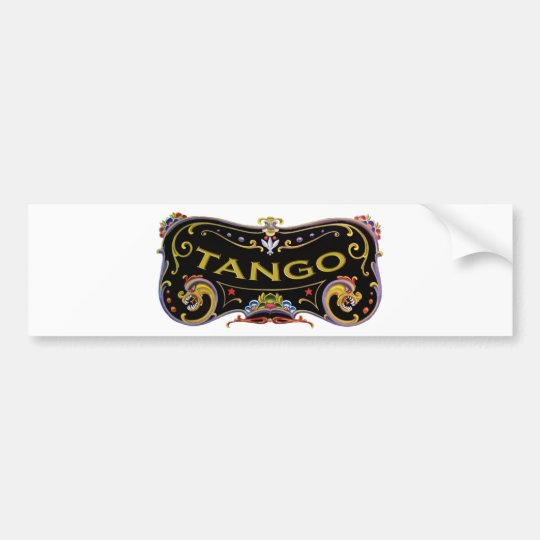 Tango exclusive gifts! bumper sticker