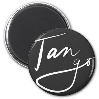 Tango firmado imán redondo 5 cm