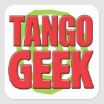 Tango Geek Square Sticker