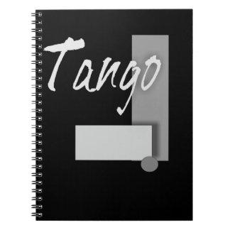 Tango Geometry Spiral Notebook