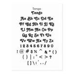Tango - hoja de la muestra de la fuente de Zazzle Postal