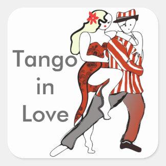 Tango in Love -Two little tangueros Square Sticker