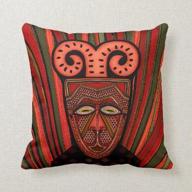 Tango Khȃmé Tribal Mask (Pillow)