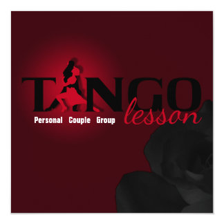 """Tango Lesson - Card, Invite 5.25"""" Square Invitation Card"""
